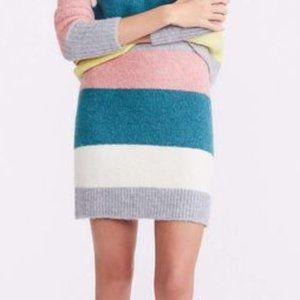 NWT Lou & Gray Striped Plushfuzz Sweater Skirt